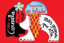 Vodafone #Todopormuypoco / Campaña de Vodafone España para el verano del 2013. A través de una web y un hashtag se invita a los usuarios de este operador a tuitear con frases sobre su veraneo. Se seleccionarán las mejores y un grupo de ilustradores nos encargamos de dibujarlas. Además a los seleccionados se les regala una copia imrpesa de su frase ilustrada.
