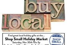Shop Small Holiday Market - Food / Shop small on Small Business Saturday and gift locally this holiday season! Area businesses feature their locally-made artisan & organic foods, custom art & prints, health & beauty products, natural cleaning, hand made neckware, and gift baskets in one convenient location. Stop by the St. Anthony Village City Hall and Community Center on Saturday, 11/28,2015 from 11am-3pm. Lots of parking & gift items available! One day only! Gift locally this holiday season!