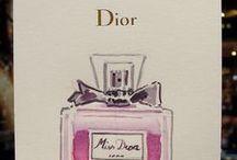 DIOR 2015 / En Diciembre de 2015 trabajé para Dior durante tres fines de semana en sus tiendas de Madrid y Valencia. Por la compra de cualquier artículo el cliente tenía opción de recibir una tarjeta personalizada con un dibujo y una dedicatoria que yo mismo realizaba en el momento. Podía ser un perfume, pintalabios o cualquier producto de la marca o algunas de las imágenes emblemáticas de Dior como son el óvalo, la estrella o la rosa.