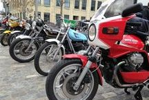 Eye Candy: 2016 Brewtown Rumble brings out classic bikes, Mad Max / An estimated 2,500 motorcyclists braved brisk weather May 14-15 for the second annual Brewtown Rumble at the historic Pabst Brewery in Milwaukee, Wisconsin. The ride-in show featured classic bikes of all makes alongside bands, bratwurst and cold Blue Ribbon beer in a setting reminiscent of a Bavarian castle. / by ClassicCars.com