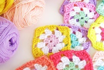 For the love of granny square's / I just love granny squares! I love the color of them and the different techniques.