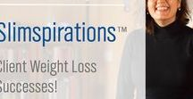 Slimspirations™ / The people in our pins aren't models--they are real people who lost weight with SlimGenics. Our weight loss program isn't a trick or a gimmick. It takes commitment for our clients to have their own Slimspiration stories.