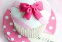 Love  pink, love  dessert / Cupcake prevalentemente rosa!