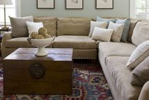 House - family room / Going for a natural/beachy theme....  soft blues, tans, creams, grays....  / by Cynthia Eccles