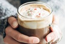 COZY WARM DRINKS / A variety of warm drink recipes for cold days. This board has hot chocolate, tea, coffee, apple ciders and more.