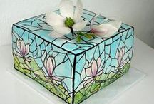 Cakes - Handpainted / Stained Glass / by Donna Pettite