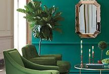 Interior Inspiration: Green Home Decor / Interior inspiration - ideas for a green home. Green home decor ideas. How to bring green into your home.