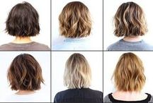 Hair / Hair styles, cuts, and colors I'm loving right now. Hair cut inspiration for my DIY bathroom haircuts.