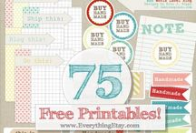 DIY: Printables & Freebies / Add your own touch or print as is. Here's a collection of free printables from around the web!  / by Elysa // genpink