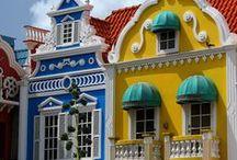 bright painted houses / by Veronique van den Hof