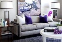 Purples / Various shades of purple and how to use this color throughout your space with Rugs, Furnishings, & Accessories
