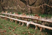 Rustic wedding / Outdoors,open field,rustic elegance  Deep purple, ivory, green, dusty blue