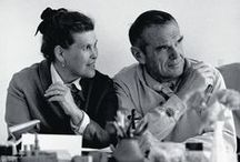 Charles & Ray Eames / The married couple Charles & Ray Eames is amongst the most influential designers of the 20th century. The two of them have had a profound and lasting influence on Vitra. Even today, their design philosophy continues to shape the company's values, orientation and goals.
