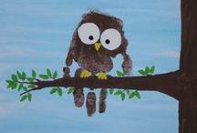 Making Memories / Handprint, footprint, fingerprint, and other kid art preservation ideas / by Amy Meyers