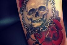 Tattoos / My love for tattoos, especially Day of the Dead and sugar skull themed ones.   / by Nicole Carter Artisst