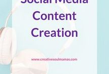 Content Creation - Social Media / Tips, tools and ideas on content creation for your social media to represent and promote your business and share your authentic, unique message. Facebook, Instagram, YouTube, Twitter, Pinterest, LinkedIn