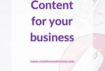Content Creation - Writing / Your writing may be for work, while journaling, for blogging, for writing to produce a product for your business as a creativepreneur. How to write content for your business