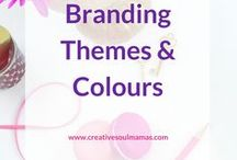 Content Creation -  Branding Themes & Colours / Ideas & inspiration for choosing or updating your brand theme and brand colours. For new business branding and a brand refresh.
