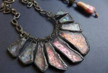 Work from 2014 / My rustic cosmic victorian tribal gypsy assemblage jewelry. Uh-huh.