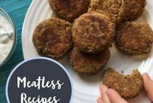Meatless Recipes / Find vegetarian and vegan recipes that are perfect for Meatless Monday! All the nutrition and no meat!
