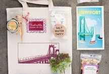 Welcome Bag Ideas / Since you won't be able to greet all your guests upon their arrival to your wedding -- greet them with a welcome bag! Here are some ideas
