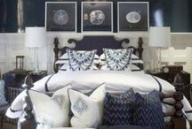 Navy and white spare bedroom / by Traci Locke