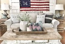 Patriotic Home Decor / Red, White & Blue!