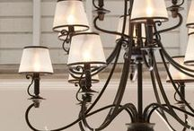 Chandelier Chic / A chandelier adds ambiance, style, and general lighting to a room, but selecting the right chandelier can be tricky. The right size chandelier is proportional to the height and width of the room. Learn how to select the best chandelier for your space: http://www.delmarfans.com/chandelier-lighting/