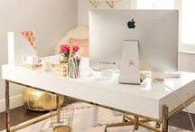 Home Office Decor Ideas / If you work from home, you know that organization is the most important aspect of your home office. Organization mixed with functional decor makes for a perfect work space that you'll be looking forward to spending time at each day!