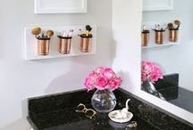 Bathroom Decor Ideas / Is there anything more relaxing than coming home after a stressful day at work and taking a long, luxurious bath? If you find yourself using your bathroom as an escape from your hard day, you might want to consider your bathroom design elements.