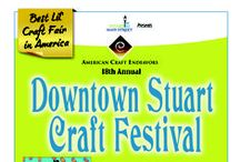 Stuart Craft Festival / Join us for the 18th Annual Downtown Stuart Craft Fair ~ April 25th - 26th, 2015 ~ Saturday & Sunday 10am - 5pm ~ For more information, visit www.ArtFestival.com / by American Craft Endeavors