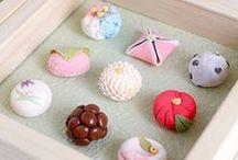 Wagashi ♟ japanese pastries / Je suis amoureuse des wagashis. Ces jolies pâtisseries japonaises fines & jolies.