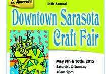 Sarasota Art & Craft Festival / 14th Annual Downtown Sarasota Art & Craft Festival ~ May 9th and 10th, 2015 ~ Saturday & Sunday 10am - 5pm ~ For more information, visit www.ArtFestival.com / by American Craft Endeavors