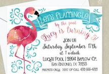 Flamingo Birthday Party / Party ideas for a Flamingo Birthday Party.  Flamingle by the pool with all your girls!  Get the perfect invitation for this party at Little Celebrations!  https://www.etsy.com/ca/listing/472935227/flamingo-birthday-party-invitation-pink?ref=shop_home_active_2