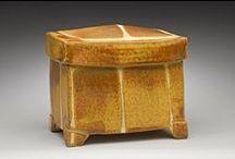 Box. Ceramic. / Ceramic boxes made using the potter's wheel or slab built.
