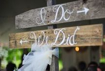 Signs & Notes / Wedding signs, arrows, banners and wedding thank you notes. / by Plan It Event Design & Management