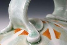 Handle. Ceramic. / Energetic (and sometimes unusual) handles and other attachments on clay mugs, teapots and jars.