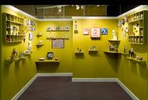 Booth. / How to design a booth for art work at a craft fair. Inspiration, tips and DIY for interesting retail design.