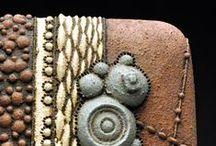 Texture. Ceramic. / Ceramic clay work with texture.