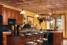 Dream Kitchen Wishlist / My dream kitchen - a fusion of black, red, gold and copper; where touches of rustic woodlands combine with contemporary metallic accents. A hint of the unexpected completes the look.