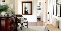 foyer/entry / Ideas for styling and making your foyer or entry pretty and functional
