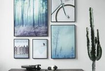 On the wall / Wallpaper, art, crafts and anything you can put on your walls to make them look pretty.