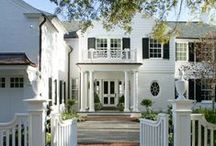 exteriors and garages / Beautiful home exteriors, garage doors, trellis's with curb appeal