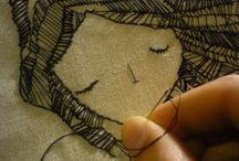 And Thread / Getting down, embroidery style.