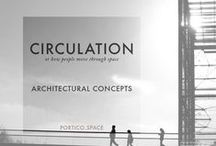 CONCEPTS | Circulation / PORTICO Architectural Concepts Series | CIRCULATION | Diagrams and Drawings | In architecture, circulation refers to the way people, the blood of our buildings, move through space. Circulation routes are the pathways people take through and around buildings or urban places. Circulation is the concept that captures the  experience of moving our bodies around a building, three-dimensionally and through time.  More on Portico Journal: http://portico.space/journal//architectural-concepts-circulation