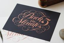 Lettering & Calligraphy / Beautifully written & drawn sentences, words & letters.