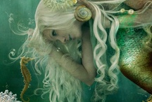 """Mermaids / """"The sea, once it casts its spell, holds one in its net forever.""""  -Jacques Yves Cousteau"""