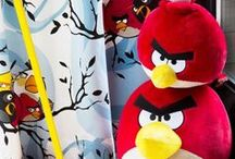 Angry Birds Interior Collection by Vallila / Vallila Collaborates with Rovio Entertainment - the creator on Angry Birds.   Angry Birds can now be found in fabrics, curtains, cushions, rugs and wallpaper.