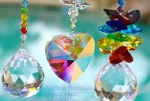 Beautiful Sun Catchers / I have always loved sun catchers and the magical rainbows they create. You can hang them near a window and they will create wonderful reflections of rainbow colored lights that sparkle and dance about the room. Rainbows are reminders of hope and joy.