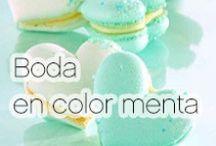 Boda en color menta